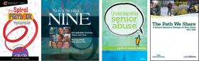 Cover images: Spiral Playbook; NS9; Understanding Senior Abuse; Natural Resource Strategy